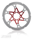 XLC brake disc BR-X59, 203 mm red/silver with CNC Reibring