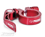 XLC seat post-clamp ring PC-L04, 31,6 mm red with QR