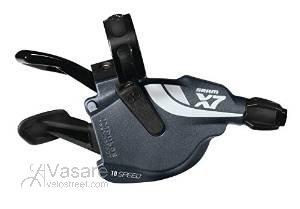 SRAM galinių pavarų rankenėlė X-7 Trigger 10pav. Storm Grey ZeroLoss
