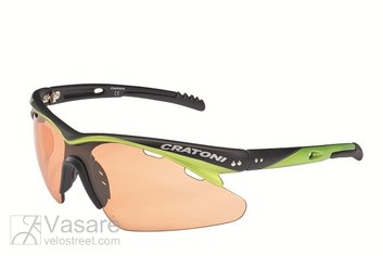Sunglasses Cratoni Futuro with photochromic lens, black neon yellow