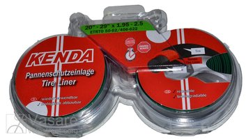 "Tire tape puncture protection layer KENDA 20"" - 29"" x 1.95-2.5/50-62 x 406-622, black/green"