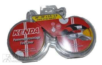 "Tire tape puncture protection layer KENDA 37-50 20"" - 29"" x 1.5-1.9/37-50 x 406-622, black/yellow"