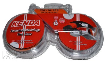Tire tape puncture protection layer KENDA 700x20-25C / 20-25 x 622, black/orange