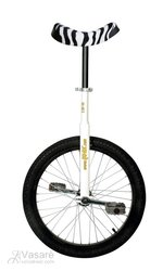 "Unicycle QU-AX20""Luxus white,zebra saddle"