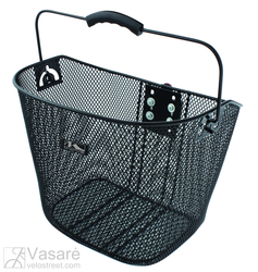 Wire basket black clip-on
