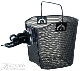Wire basket black with clip-on bracket