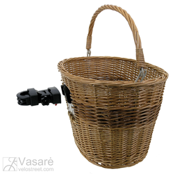 Wire basket with clip-on bracket