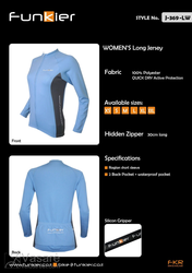 Women's jacket blue J369LWM