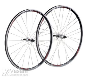 XLC Comp Racing wheel set 28 black, flat spokes, silver