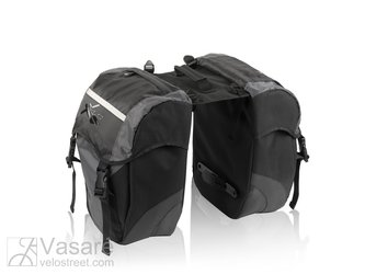 XLC Doublepack bag BA-S41 black / anthracite, 35x35x10 cm, 30 ltr