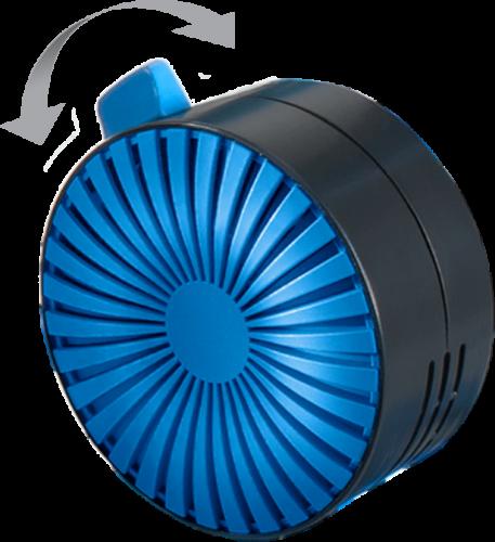 Manually adjusted blue twist